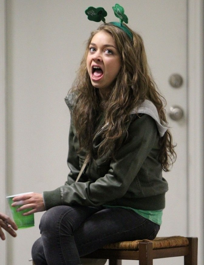 Sarah Hyland (Haley Dunphy de Modern Family) croqueta